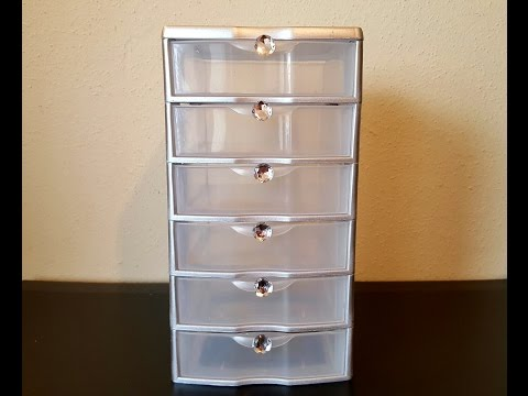 DIY Glam Cosmetic Storage Makeover