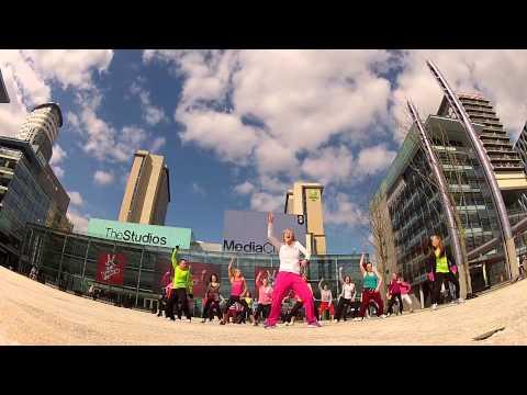 Bokwa Flashmob Manchester - Part 1 - Media City 'The Warm Up'