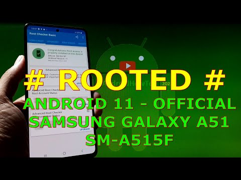 How to Root Samsung Galaxy A51 SM-A515F Android 11 Official - DUB1 Firmware