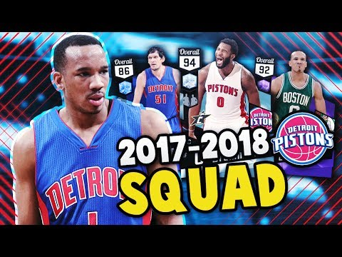 2018 PISTONS WITH AVERY BRADLEY!! | DIAMOND ANDRE DRUMMOND!! | NBA 2K17 MyTEAM SQUAD BUILDER