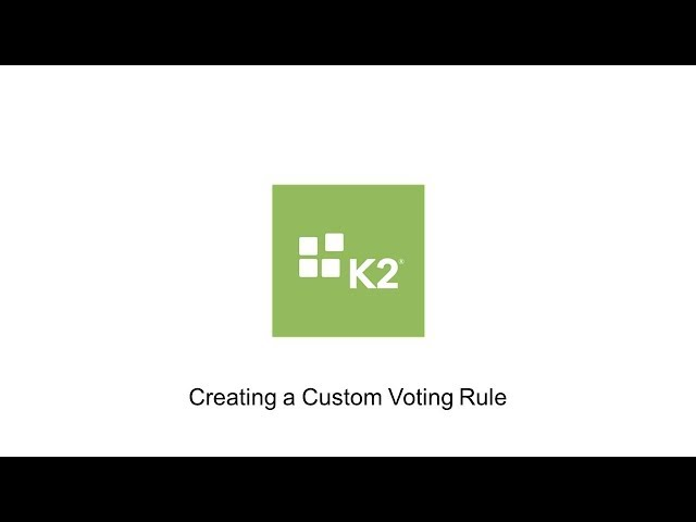 How-To: Creating a Custom Voting Rule