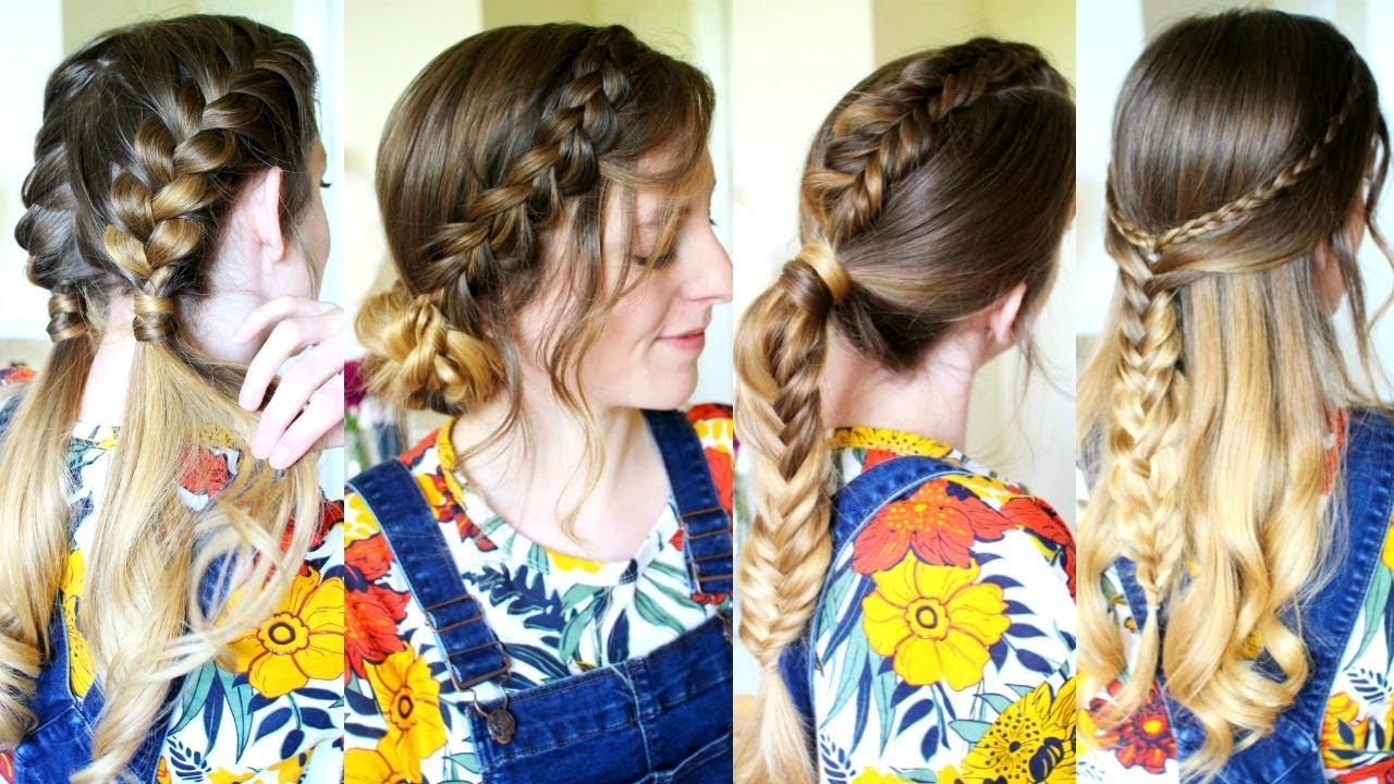 4 cute hairstyles for fall | braids | braidsandstyles12