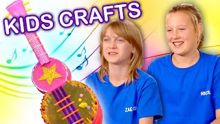 Make a Guitar for a Rockstar!  | KIDS CRAFTS | Universal Kids