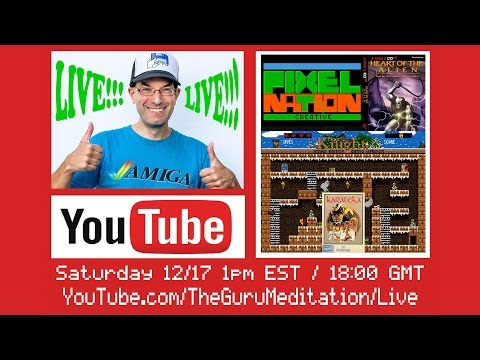 LIVE STREAM - Bill Plays some new Amiga Games and Ports - 12/17/2016
