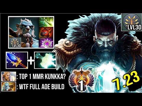 CRAZY TOP 1 MMR 7.23 Scepter Kunkka Counter Pro PL Most Epic 30 Level Battle Armel vs IYD Dota 2