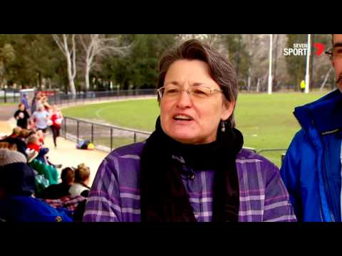 Canberra's Heather Anderson, a female AFL football feature