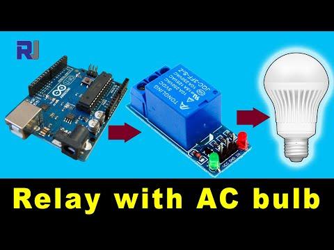 Control AC Bulb With 5V Relay Using Arduino