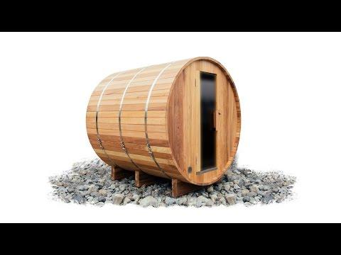 ALEKO® Outdoor and Indoor Wet Dry Barrel Sauna