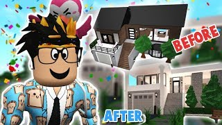 FIXING UP MY FIRST EVER BLOXBURG ROLEPLAY HOUSE... I didn't ruin this i hope