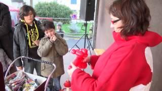 """Sculpteur de ballons avec """"Soazig"""" - noël 2012 Quiberon"""