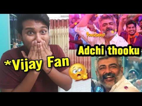 Adchithooku Song Reaction VIJAY FAN | Thala Mass AH !!???