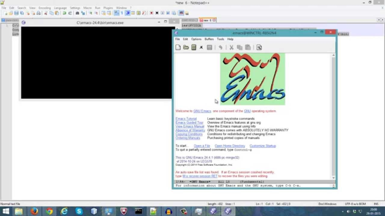 How to Install Emacs editor in Windows