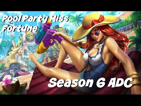 League of Legends: Pool Party Miss Fortune ADC Gameplay
