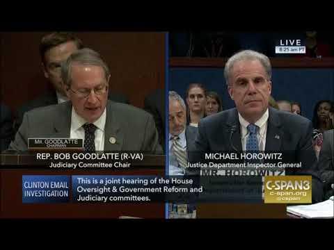 Rep  Goodlatte Questions IG Michael Horowitz