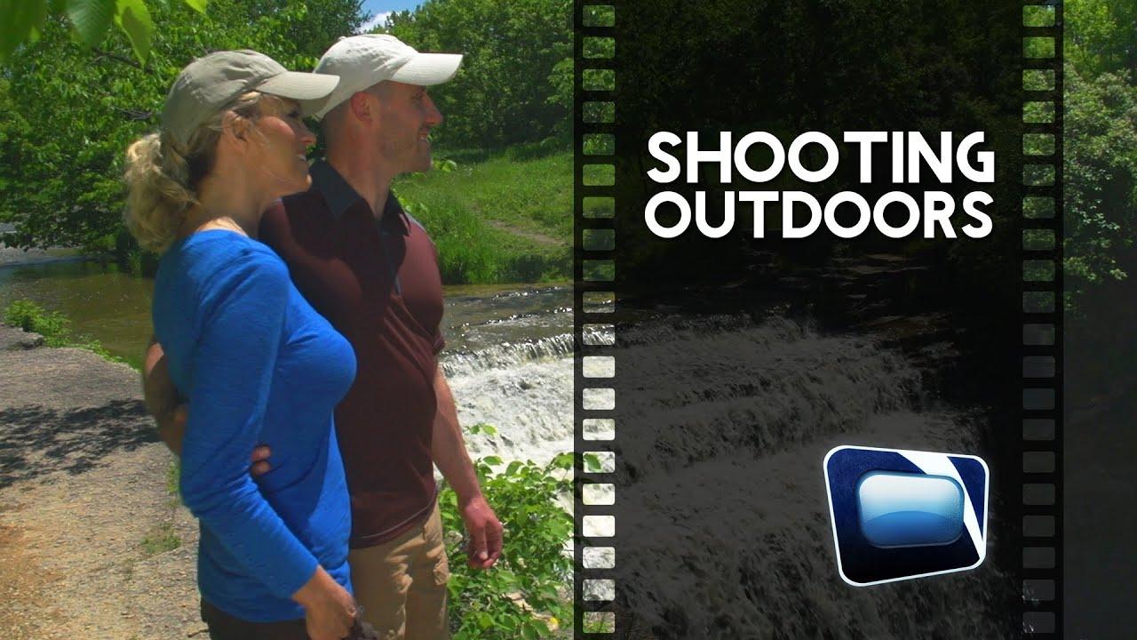 film scene - shooting outdoors - youtube