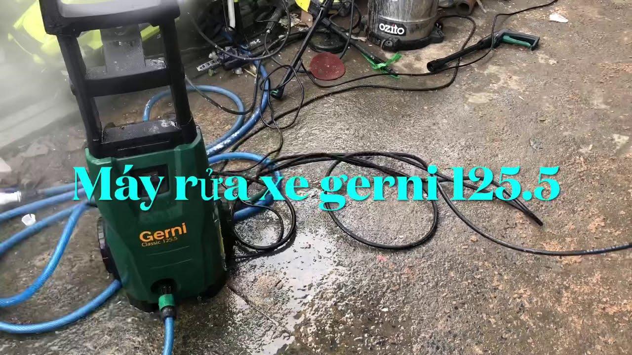 Máy rửa xe gerni 125.5 giá thanh lý 1tr - YouTube
