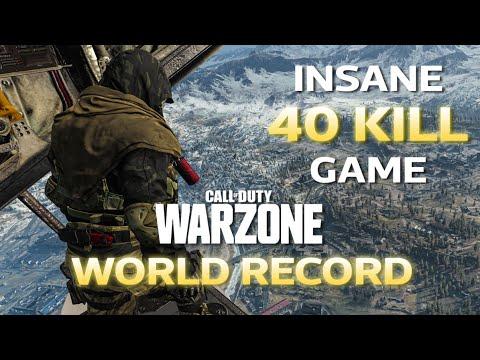 WARZONE SOLO WORLD RECORD 40 KILL GAME (COD BATTLE ROYALE)