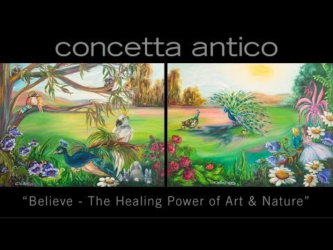 "Concetta Antico Donates ""Believe"" Paintings to Rady Children"