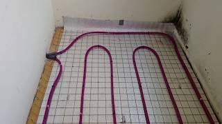 как сделать водяной теплый пол на балконе