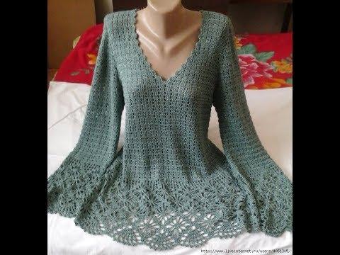 Crochet Patterns For Free Crochet Blouse 2435 Youtube