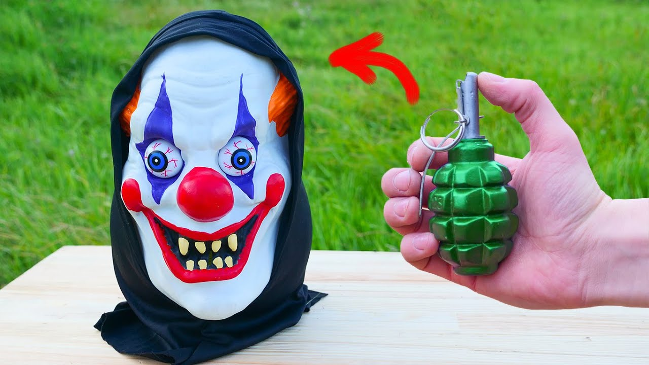 How strong is his head? Clown Head vs Fireworks