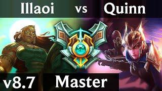ILLAOI vs QUINN (TOP) ~ 1100+ games ~ EUW Master ~ Patch 8.7