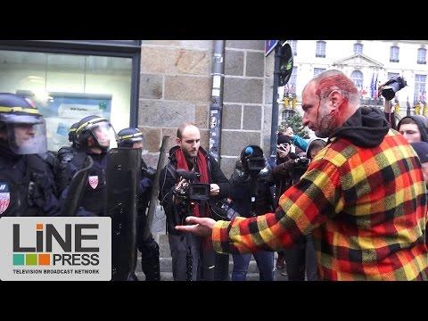 Incidents manifestation contre les violences policières / Rennes (35) - France 08 novembre 2014