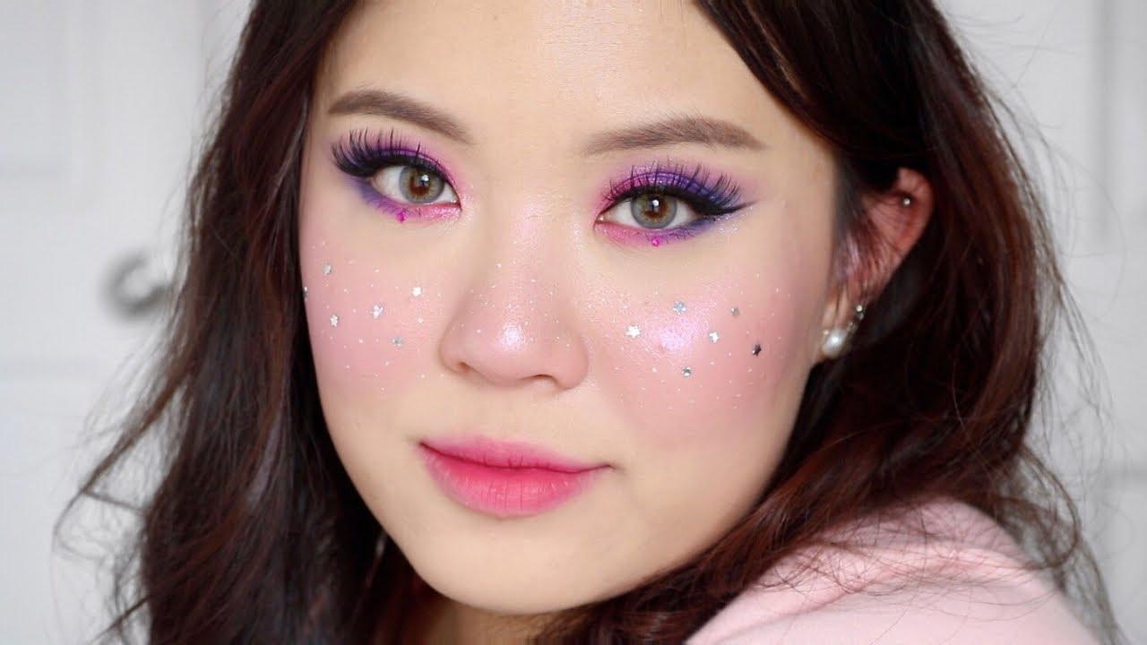 SPACE GALAXY MAKEUP 🎆 testing out new kaleidos makeup