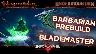 Neverwinter Mod 16 - PRE BUILD Barbarian Blademaster Gear Stats Caps Boons Pets Insignias (1080p)