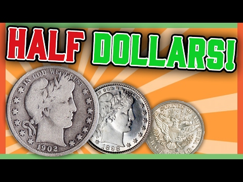 RARE BARBER HALF DOLLARS WORTH MONEY - HALF DOLLAR ERRORS!!