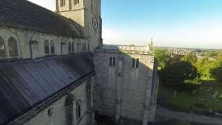 Christchurch Priory in Dorset.  GoPro Hero 3 Tarot