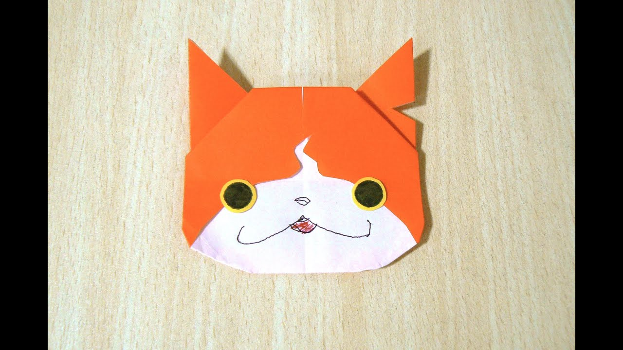 Fabuleux Comment faire Jibanyan Yo-Kai Watch. Origami. L'art du pliage de  OP15