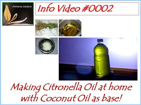 Easy way of making Citronella Oil at home with coconut oil as base