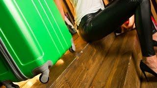 Тест колесиков чемодана от компании