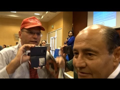 TRUMP SUPPORTERS SHUT DOWN ILLEGAL ALIEN TOWNHALL IN SANCTUA