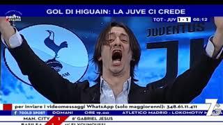 DIRETTA STADIO CL | Tottenham - Juventus 1-2 | Juve ai quarti, Oppini bacia Moggi!