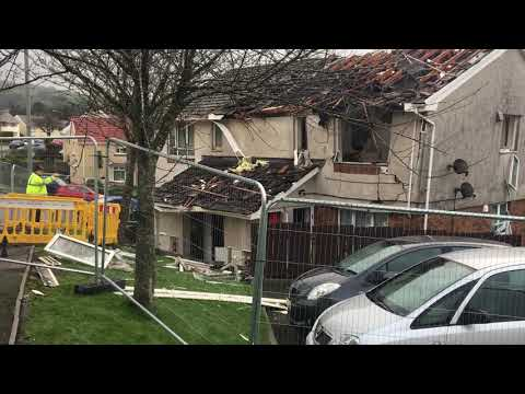 Explosion guts Neath block of flats