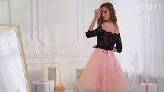 Вечернее платье на выпускной в Саратове TM Pauline коллекции LA BEAUTE модель Гавана топ и Лили юбка