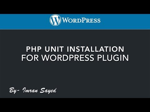 #2 Installing PHP unit | WordPress Plugin | wp cli | tutorial