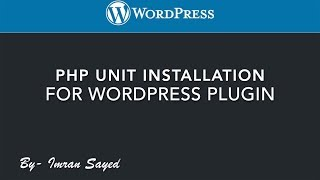Installing PHP unit | WordPress Plugin | wp cli | tutorial Mp3