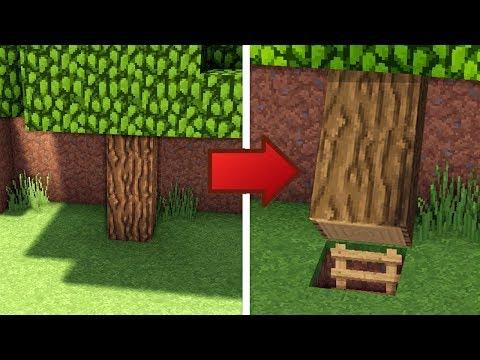 Minecraft: How To Build A Survival Secret Base Tutorial #6 - (Hidden House)