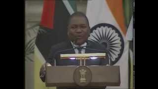 PM Modi & Mozambique President Filipe Jacinto Nyusi at the Joint Press Statement