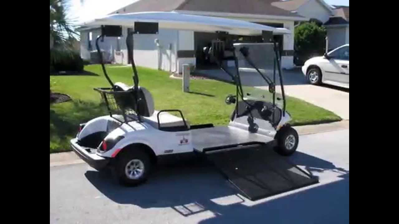 Wheelchair accessible golf cart with joystick steering Handicap wheelchair