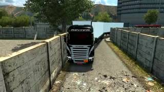 Euro Truck Simulator Mapa EAA 4.6 manobrando 30 metros