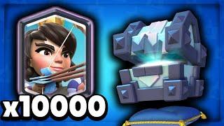 קלאש רויאל - פתיחת תיבת טורנירים 10k קלפים!!
