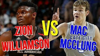 Zion Williamson Vs Mac Mcclung Dunk Contest 2018