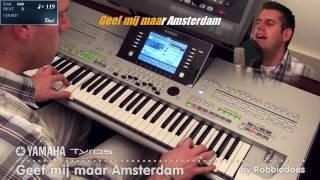 Yamaha Tyros 3: Geef mij maar Amsterdam (incl. karaoke)