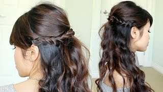 Prom Hairstyle: Braided Half-Updo feat. NuMe Reverse Curling Wand Thumbnail
