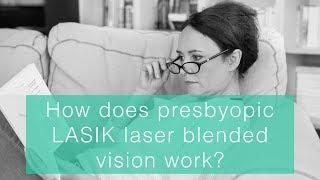 How does presbyopic LASIK laser blended vision work?