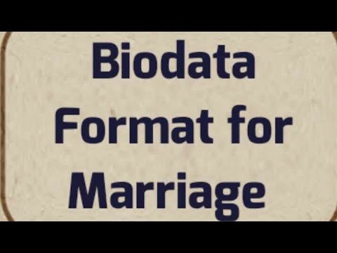 Hindu Indian latest Biodata Format for Marriage - YouTube